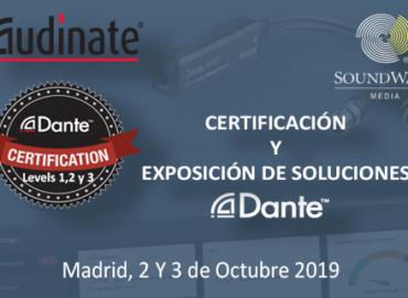 Certificación y exposición de soluciones Audinate (Madrid, 2 y 3 de Octubre)
